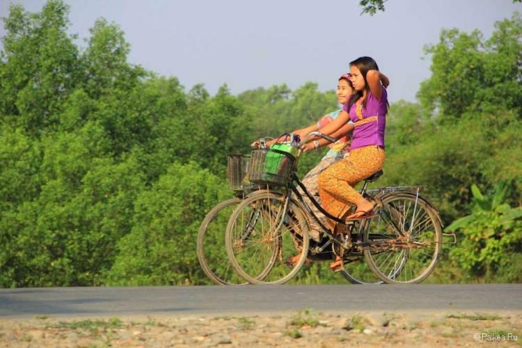 мьянма велосипед