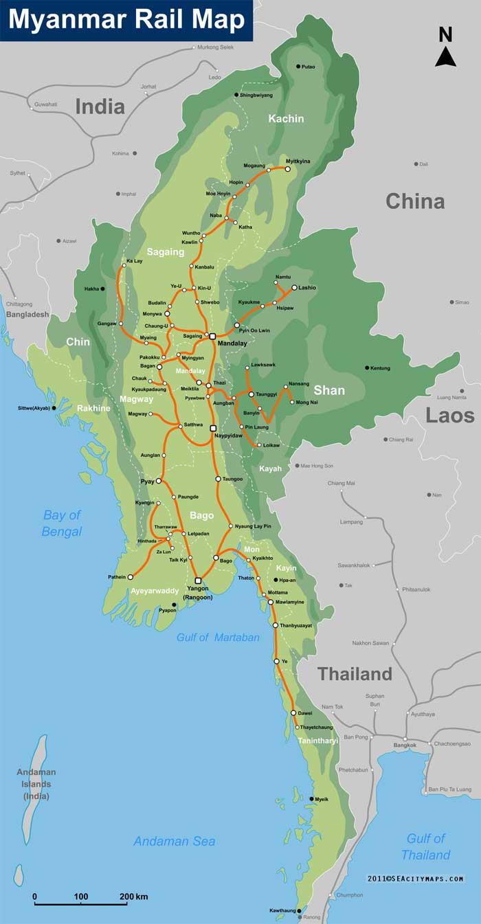 железные дороги мьянмы