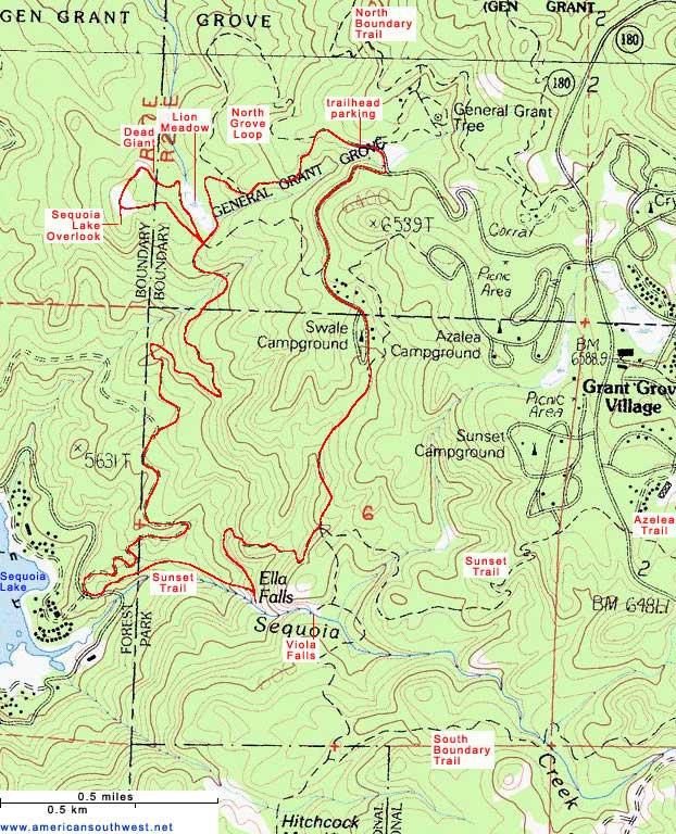 кингс каньон north grove loop