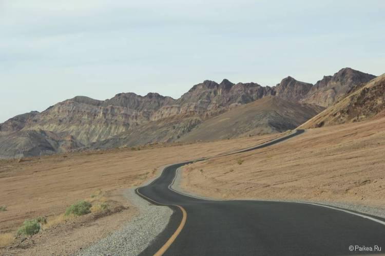 долина смерти живописная дорога