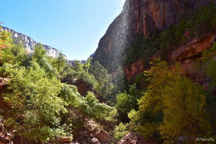 зайон водопад