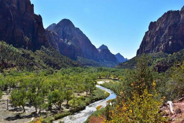 Национальные парки США Каньон Зайон