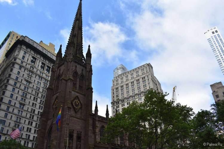 Достопримечательности Нью-Йорка что посмотреть Церковь Троицы