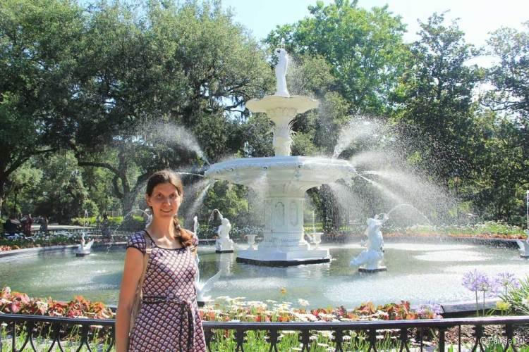 саванна фонтан в парке форсайт