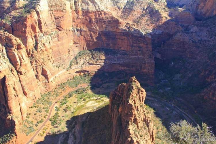 Вид со скалы Приют Ангелов