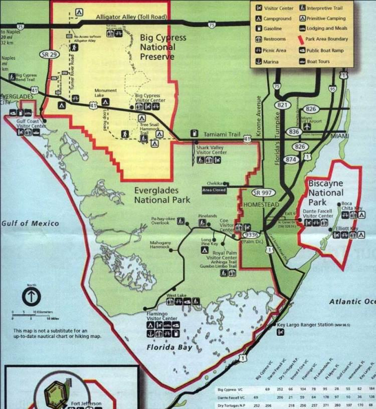 карта парка эверглейдс