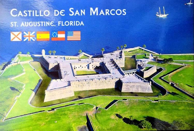 Форт Кастильо де Сан-Маркос в Сент-Огастин