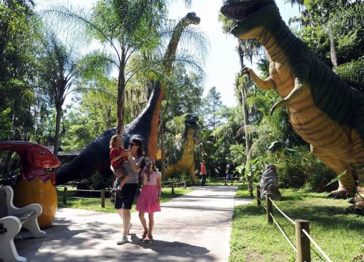 Флорида с детьми динозавры
