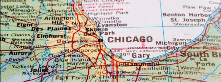 Чикаго на карте