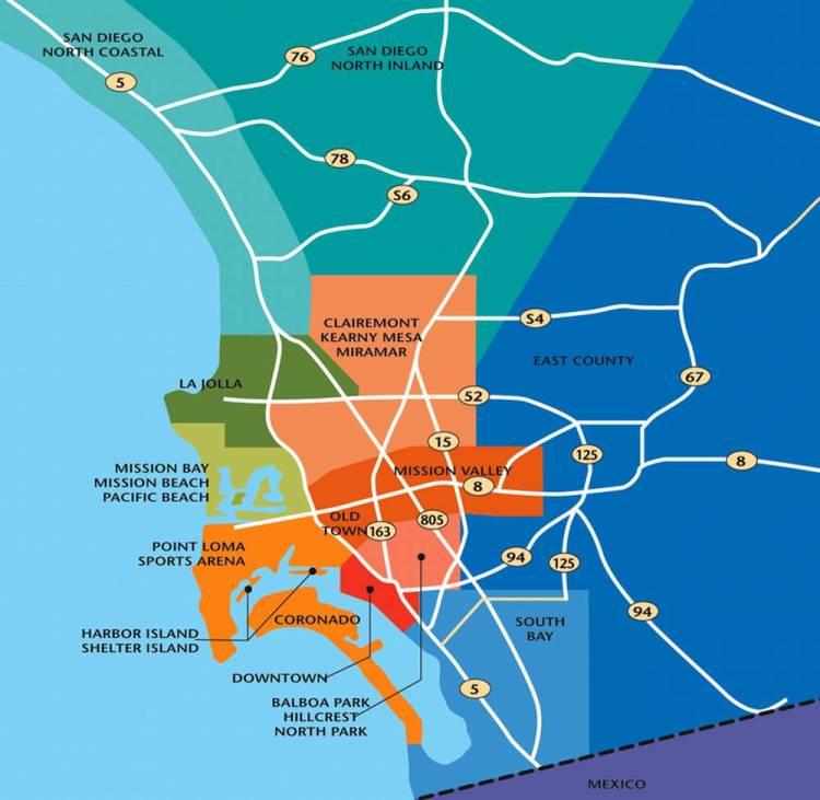 Районы Сан-Диего