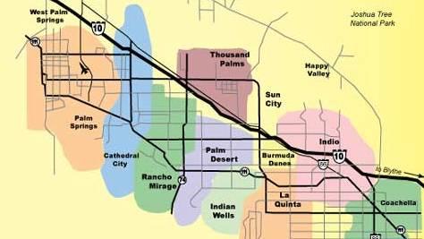 Города в долине Коачелла