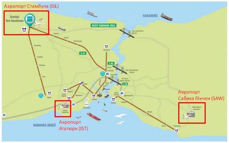 где находится аэропорт Стамбула