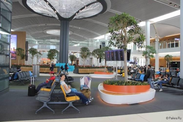 Новый аэропорт Стамбула зал ожидания