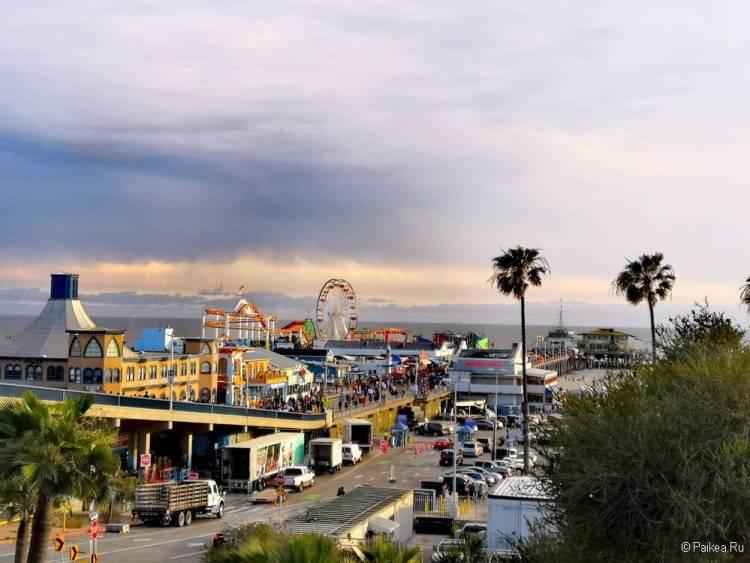 Закат в Санта-Монике