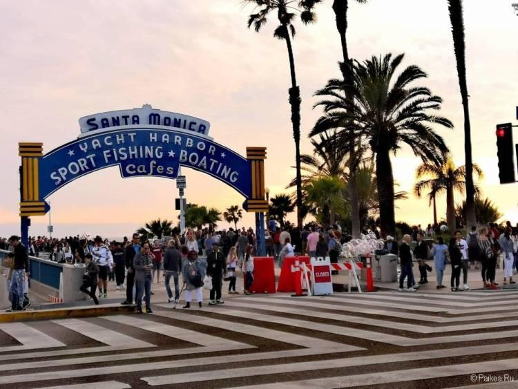 Поездка в Лос-Анджелес самостоятельно Пирс Санта-Моники
