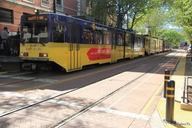 Трамвай в Сакраменто Калифорния