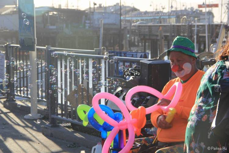 рыбацкая пристань сан франциско клоун