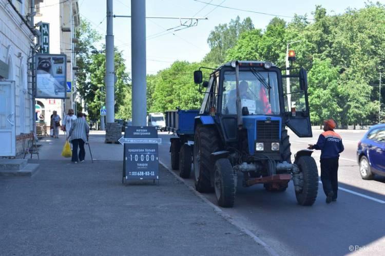 Трактор в Витебске