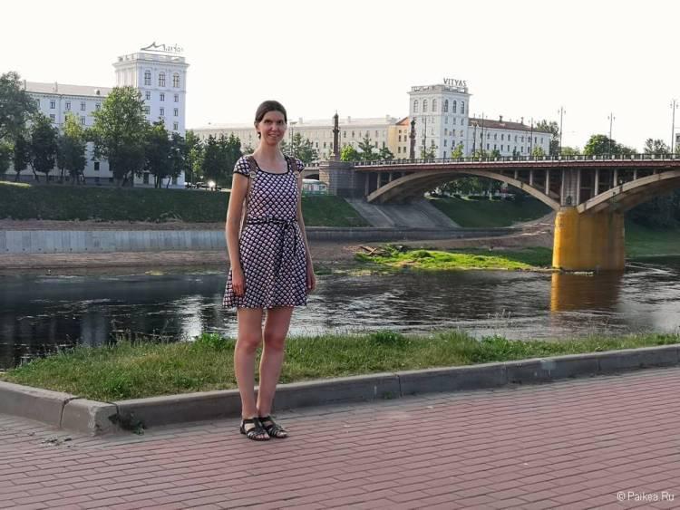 Набережная Западной Двины и Кировский мост в Витебске