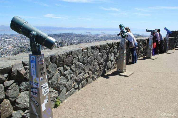 Твин Пикс - лучшая смотровая площадка в Сан-Франциско с панорамным видом на город