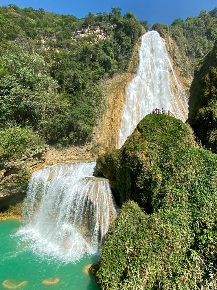 путешествие в мексику самостоятельно водопад эль чифлон 06
