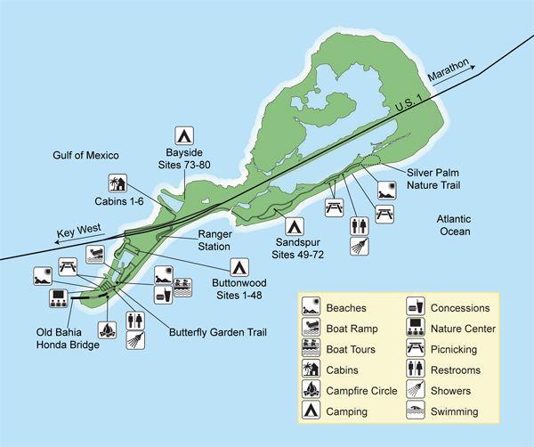 карта парка бахиа хонда / bahia honda state park