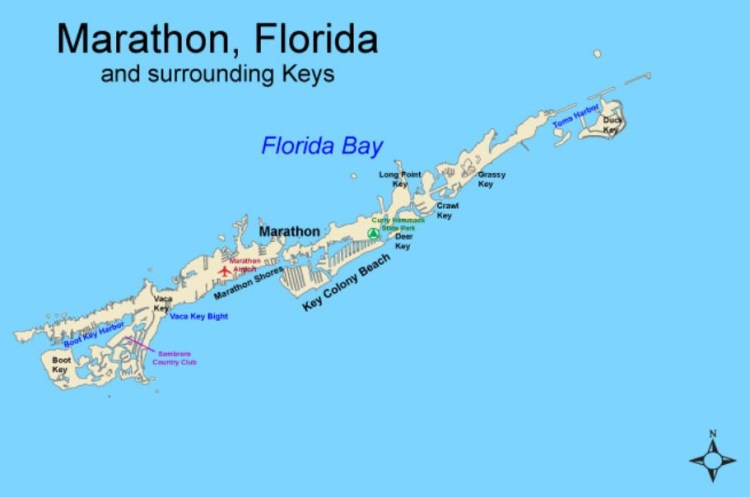 марафон флорида карта