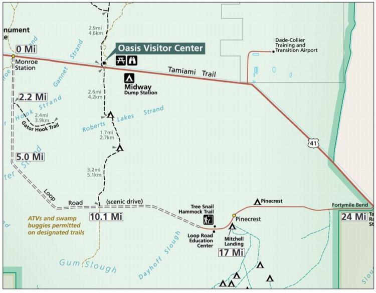 биг сайпресс (big cypress) loop road map