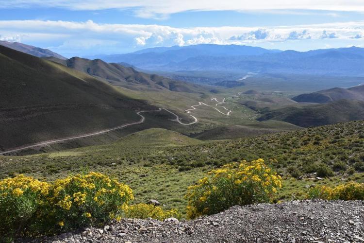 Дорога на гору Serrania del Hornocal
