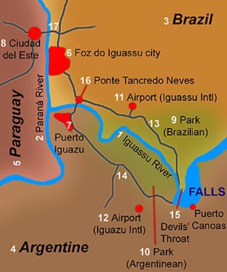 водопады игуасу схема