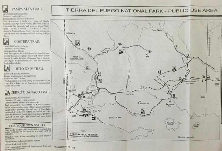 схема парк огненная земля с описанием трейлов