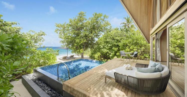 пляжные виллы Мальдив для отдыха с детьми 33