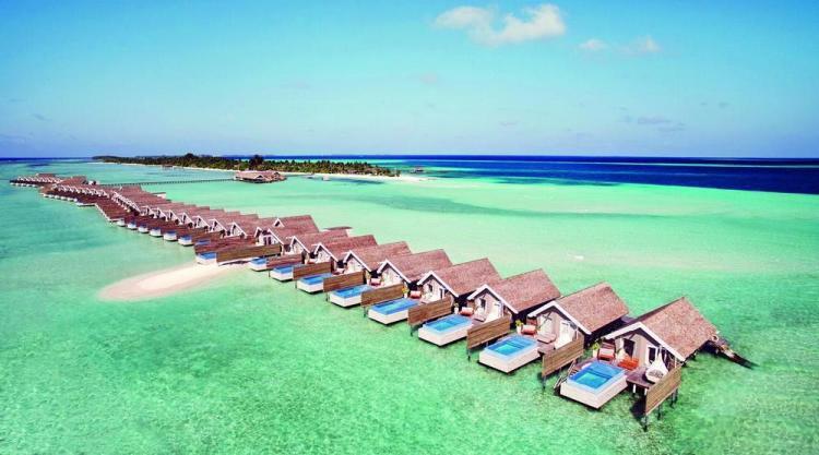 отели на мальдивах с песчаной косой lux south 3