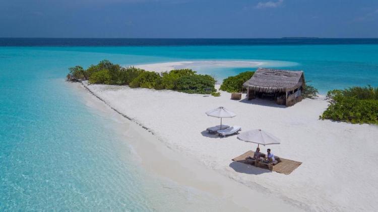 отели на мальдивах с песчаной косой soneva fushi 2