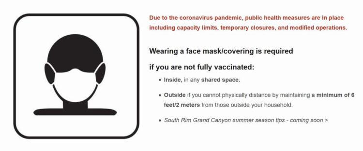 новые правила посещения национальных парков сша covid гранд каньон