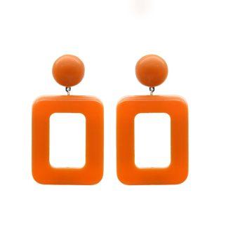 boucles d'oreilles fantaisie orange