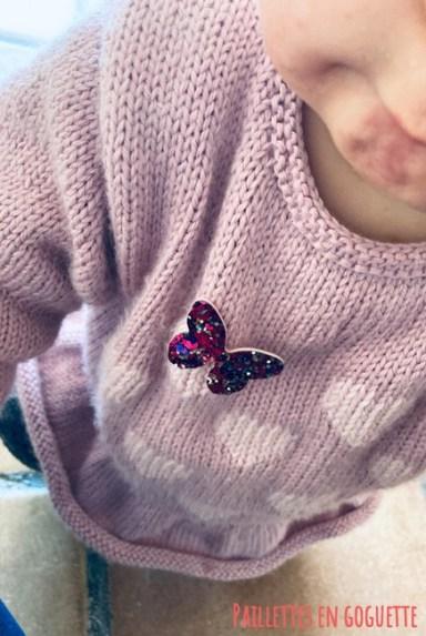 papillon pailleté