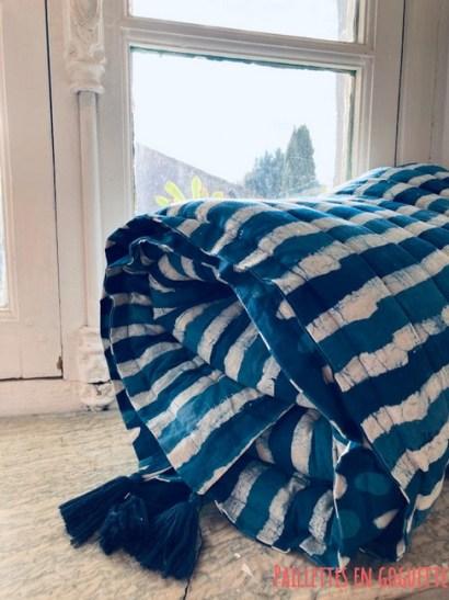 sofa cover indigo