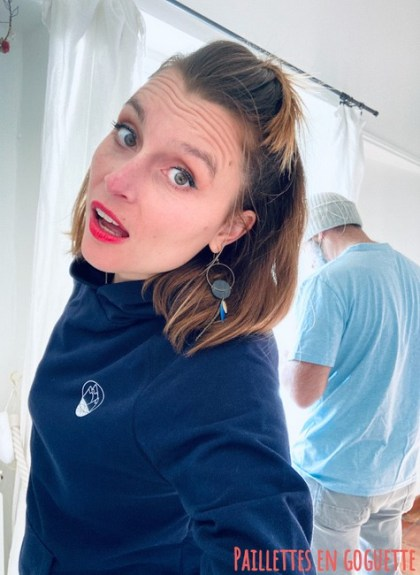 sweat bleur marine femme