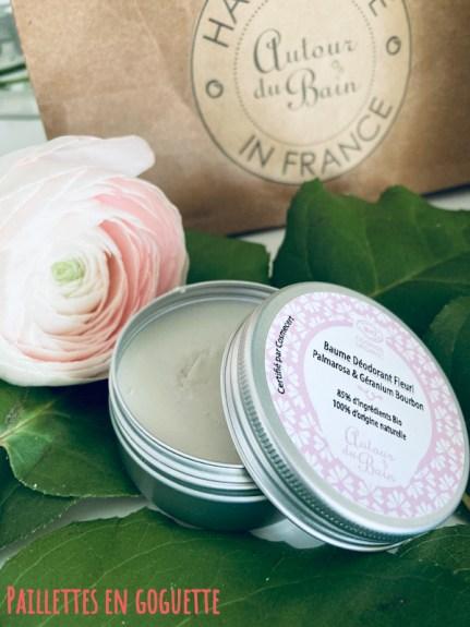 baume déodorant fleuri