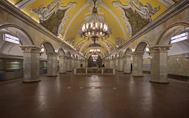 metro di mosca komsomolskaya