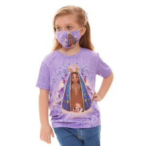 Máscara Nossa Senhora Aparecida Infantil MDI9213 Unidade