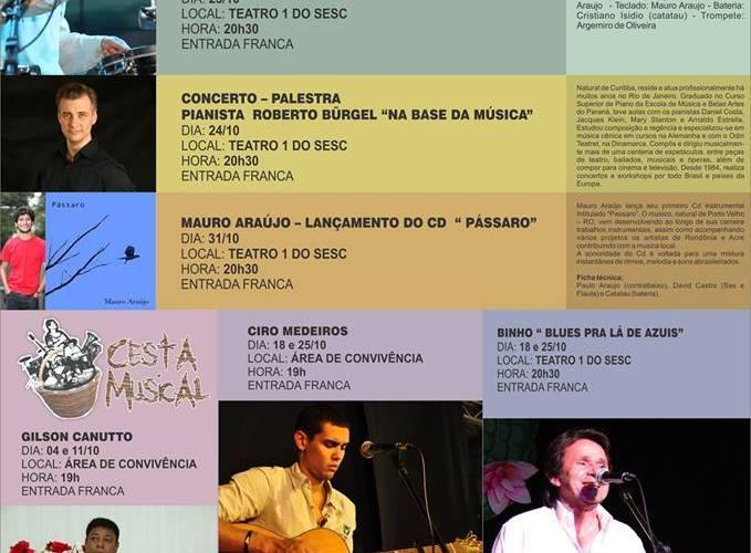 Ciclo de Partituras é a atração musical do mês de Outubro