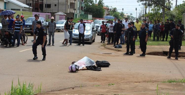 Bandido é morto à tiros após assaltar funcionários da Semusa