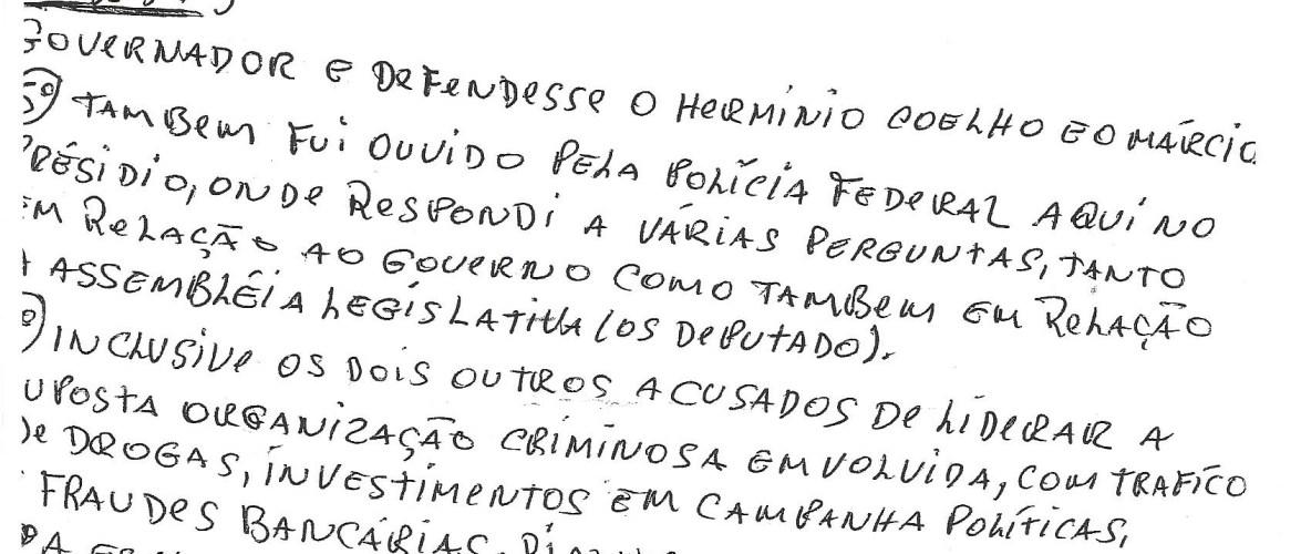 """Site afirma que assessor do governo divulgou carta de """"Fernando da Gata"""""""