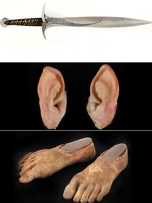 Leilão de 'Senhor dos anéis' tem orelha e pés