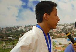 Atleta de 14 anos de Ji-Paraná é vice-campeão no Brasileiro de karate em Fortaleza