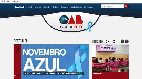CAARO adota sítio eletrônico para dinamizar comunicação com advogados
