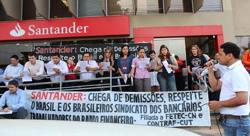Santander é o banco que mais demite no país e em Rondônia o quadro continua piorando
