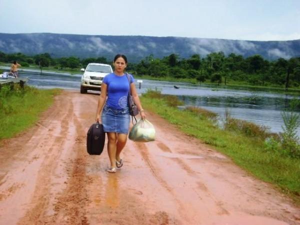 Enchente no Guaporé isola distrito de Cabixi